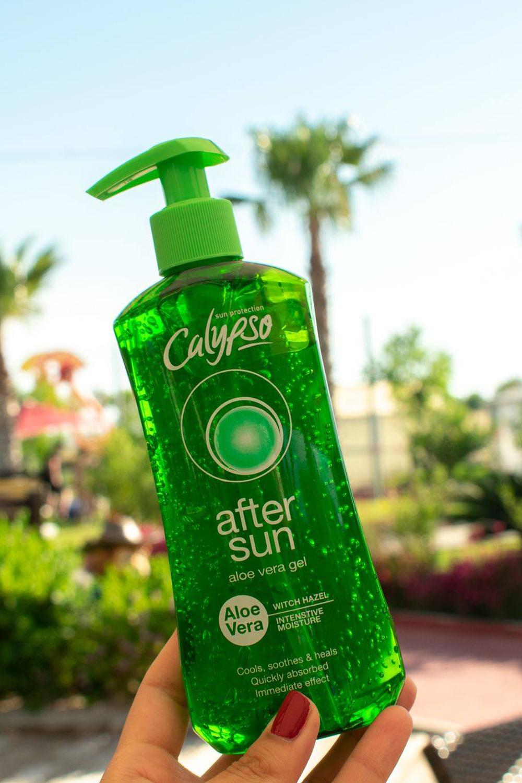 Calypso aftersun aloe vera gel lifestyle palms
